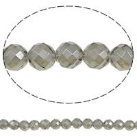 Natürlicher Quarz Perlen Schmuck, rund, verschiedene Größen vorhanden & facettierte, Bohrung:ca. 1mm, Länge:ca. 15.7 ZollInch, 5SträngeStrang/Menge, verkauft von Menge