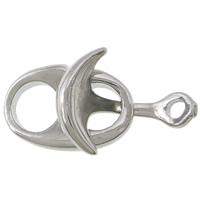 Zinklegierung Lederband Verschluss, Platinfarbe platiniert, frei von Nickel, Blei & Kadmium, 23x12x4mm, Bohrung:ca. 2mm, 100SetsSatz/Menge, verkauft von Menge