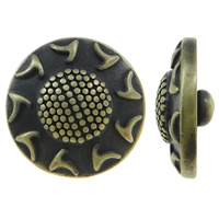 Zinklegierung Verbindungselement Komponente ausrichten, flache Runde, antike Bronzefarbe plattiert, frei von Nickel, Blei & Kadmium, 20x8mm, 5PCs/Tasche, verkauft von Tasche