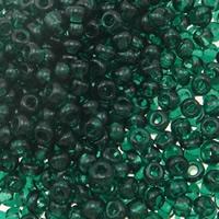 Transparente Glas Rocailles, Glas-Rocailles, Rondell, transluzent, grün, 2x1.90mm, Bohrung:ca. 1mm, verkauft von Tasche