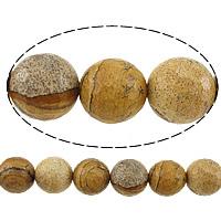 Bild Jaspis Perlen, rund, facettierte, 10mm, Bohrung:ca. 1mm, Länge:ca. 15 ZollInch, 10SträngeStrang/Menge, ca. 37PCs/Strang, verkauft von Menge