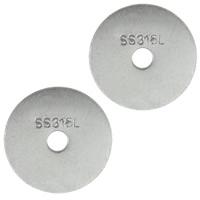 Edelstahl-Distanzscheiben-Korn, 316 L Edelstahl, flache Runde, originale Farbe, 12x0.50mm, Bohrung:ca. 2mm, 1000PCs/Menge, verkauft von Menge