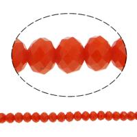 Klasse AA Kristallperlen, Kristall, Rondell, facettierte & AA grade crystal, Feuer Opal, 8x6mm, Bohrung:ca. 1mm, Länge:ca. 17.7 ZollInch, 10SträngeStrang/Tasche, verkauft von Tasche