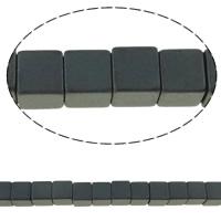 Nicht-magnetische Hämatit Perlen, Non- magnetische Hämatit, Würfel, verschiedene Größen vorhanden, schwarz, Bohrung:ca. 0.5-1mm, Länge:ca. 15.7 ZollInch, 10SträngeStrang/Menge, verkauft von Menge