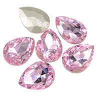 Kristall Eisen auf Nagelkopf, Tropfen, Rivoli-Rückseite & facettierte, Vintage Rose, 13x18mm, 144PCs/Tasche, verkauft von Tasche