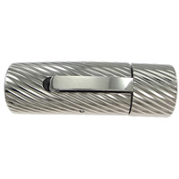 Edelstahl Bajonettverschluss, Zylinder, Weitere Größen für Wahl, originale Farbe, 20PCs/Menge, verkauft von Menge