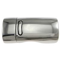 Edelstahl Magnetverschluss, Rechteck, originale Farbe, 26.50x13x9.50mm, Bohrung:ca. 11x7mm, 10PCs/Menge, verkauft von Menge