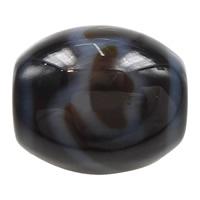 Natürliche Tibetan Achat Dzi Perlen, oval, Lotus & Weitere Größen für Wahl & zweifarbig, Bohrung:ca. 2mm, verkauft von PC
