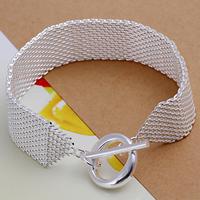 comeon® Schmuck Armband, Messing, versilbert, frei von Nickel, Blei & Kadmium, 18mm, verkauft per ca. 9 ZollInch Strang