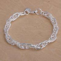 comeon® Schmuck Armband, Messing, versilbert, frei von Nickel, Blei & Kadmium, 6mm, verkauft per ca. 7.8 ZollInch Strang