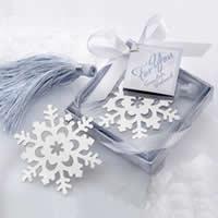 Edelstahl Lesezeichen, mit Nylonschnur, Schneeflocke, mit Papier-tag, 70x70x20mm, 60PCs/Menge, verkauft von Menge