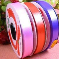 Kunststoff Bunte Bänder, flache Runde, gemischte Farben, 10mm, Länge:ca. 35 m, 50PCs/Menge, verkauft von Menge