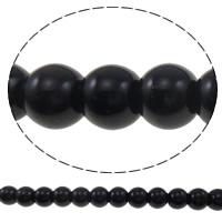 Perlmuttartige Glasperlen, Glas, rund, Nachahmung Perle, keine, 8mm, Bohrung:ca. 1mm, Länge:ca. 40 ZollInch, 10SträngeStrang/Tasche, verkauft von Tasche