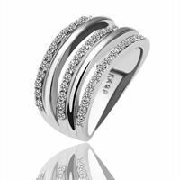 comeon® Finger-Ring, Zinklegierung, platiniert, verschiedene Größen vorhanden & mit Strass, frei von Nickel und Blei, 11mm, 22mm, verkauft von PC
