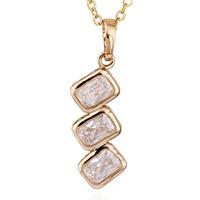 Gets® Schmuck Halskette, Messing, 18 K vergoldet, Oval-Kette & mit kubischem Zirkonia, frei von Nickel, Blei & Kadmium, 10x30mm, verkauft per ca. 17.5 ZollInch Strang