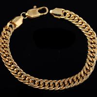 Gets® Schmuck Armband, Messing, 18 K vergoldet, unterschiedliche Länge der Wahl & Kandare Kette, frei von Nickel, Blei & Kadmium, 8mm, verkauft von Strang