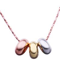 comeon® Schmuck Halskette, Messing, mit Verlängerungskettchen von 2lnch, echtes Rósegold plattiert, Boston-Kette, frei von Nickel und Blei, 16x11mm, verkauft per ca. 18 ZollInch Strang