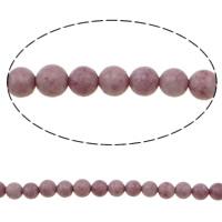 Jade Perlen, rund, Rosa, 6mm, Bohrung:ca. 1mm, Länge:ca. 15.7 ZollInch, 10SträngeStrang/Tasche, verkauft von Tasche