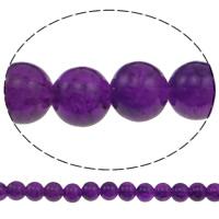 Knistern Glasperlen, Glas, rund, Fuchsia, 10mm, Bohrung:ca. 2mm, Länge:ca. 31 ZollInch, 10SträngeStrang/Tasche, verkauft von Tasche