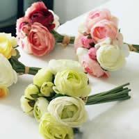 Seidenspinnerei Kunstblume, mit Kunststoff, keine, 25cm, 10SetsSatz/Menge, 3PCs/setzen, verkauft von Menge
