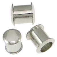 Messing Tülle, Zylinder, Platinfarbe platiniert, frei von Nickel, Blei & Kadmium, 7x7.50mm, Bohrung:ca. 4.5mm, 1000PCs/Menge, verkauft von Menge