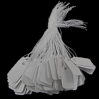 Schmuck Preisschild, Papier, Rechteck, weiß, 23*13mm, 500PCs/Tasche, verkauft von Tasche