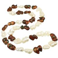 Natürliche kultivierte Süßwasserperlen Pullover Halskette, Keishi, zweifarbig, 10-25mm, verkauft per ca. 34.5 ZollInch Strang