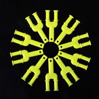 Kunststoff Katapult, gelb, frei von Nickel, Blei & Kadmium, 26x55x7mm, 1000PCs/Menge, verkauft von Menge