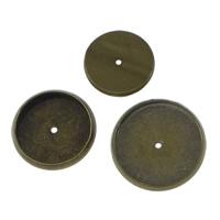 Messing Cabochon Einstellungen, flache Runde, antike Bronzefarbe plattiert, verschiedene Größen vorhanden & flache Rückseite, frei von Blei & Kadmium, 1000PCs/Menge, verkauft von Menge
