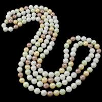 South Sea Shell Pullover Kette Halskette, Südsee Muschel, rund, natürlich, keine, 7-8mm, verkauft per ca. 52.5 ZollInch Strang