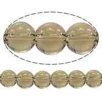 Natürliche Rauchquarz Perlen, rund, 8mm, Bohrung:ca. 2mm, Länge:ca. 15.5 ZollInch, 10SträngeStrang/Menge, ca. 48PCs/Strang, verkauft von Menge