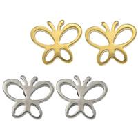 Edelstahl Ohrringe, Schmetterling, plattiert, keine, 8x6.50x11mm, verkauft von Paar