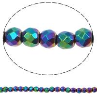 Nicht-magnetische Hämatit Perlen, Non- magnetische Hämatit, rund, bunte Farbe plattiert, verschiedene Größen vorhanden & facettierte, keine, Bohrung:ca. 1mm, Länge:ca. 15.3 ZollInch, verkauft von Menge