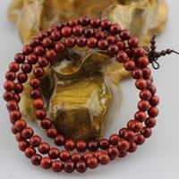 108 Mala Perlen, Indonesische Lappig Palisander, mit elastische Nylonschnur, rund, unterschiedliche Länge der Wahl & buddhistischer Schmuck & verschiedene Größen vorhanden & 3-Strang, verkauft von Menge