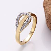 comeon® Finger-Ring, Messing, plattiert, verschiedene Größen vorhanden & mit kubischem Zirkonia, frei von Nickel, Blei & Kadmium, 13x9mm, verkauft von PC