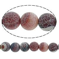 Natürliche Effloresce Achat Perlen, Auswitterung Achat, rund, 10mm, Bohrung:ca. 2mm, Länge:ca. 14.5 ZollInch, 10SträngeStrang/Menge, ca. 38/Strang, verkauft von Menge