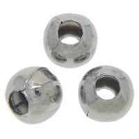 Eisen Schmuckperlen , rund, metallschwarz plattiert, frei von Nickel, Blei & Kadmium, 4mm, Bohrung:ca. 2mm, 500PCs/Tasche, verkauft von Tasche