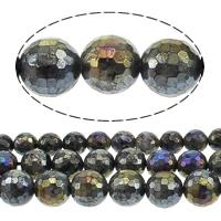 Labradorit Perlen, rund, AB Farben plattiert, Weitere Größen für Wahl & facettierte, Bohrung:ca. 1mm, verkauft von Menge