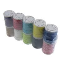 Wachsschnur, Nylon Polypropylen, mit Kunststoffspule, gemischte Farben, 1mm, Länge:ca. 80 m, 10PCs/Menge, verkauft von Menge