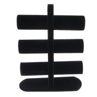 Baumwollsamt Armbandständer, mit Holz, schwarz, 240x329x100mm, 5PCs/Menge, verkauft von Menge
