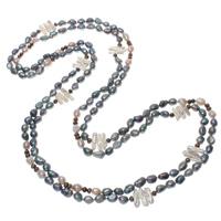Natürliche Süßwasser Perle Halskette, Natürliche kultivierte Süßwasserperlen, farbenfroh, 6-20mm, verkauft per ca. 78.5 ZollInch Strang