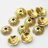 Zinklegierung Perlenkappe, Blume, antike Goldfarbe plattiert, frei von Nickel, Blei & Kadmium, 6mm, Bohrung:ca. 1mm, 2000PCs/Menge, verkauft von Menge
