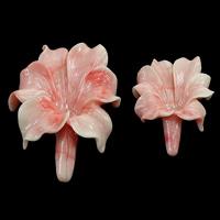 Riesenmuscheln Perlen, Riesenmuschel, Blume, geschnitzt, Weitere Größen für Wahl, Rosa, Bohrung:ca. 0.3mm, 20PCs/Menge, verkauft von Menge
