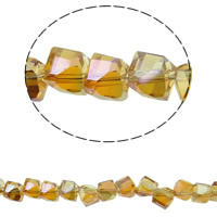 Klasse AA Kristallperlen, Kristall, bunte Farbe plattiert, verschiedene Größen vorhanden & facettierte & AA grade crystal, Rauchtopas, Bohrung:ca. 1mm, verkauft per ca. 15.5 ZollInch Strang