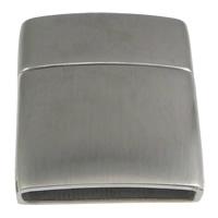 Edelstahl Magnetverschluss, Rechteck, originale Farbe, 21x24x7mm, Bohrung:ca. 18x4mm, 20PCs/Menge, verkauft von Menge