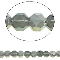 Klasse AA Kristallperlen, Kristall, Achteck, bunte Farbe plattiert, verschiedene Größen vorhanden & facettierte & AA grade crystal, Schatten Kristall, 12mm, Bohrung:ca. 1mm, ca. 50PCs/Strang, verkauft per ca. 15.5 ZollInch Strang