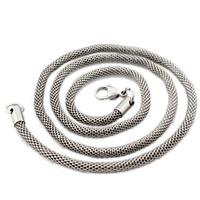 Titanstahl Kette Halskette, Laterne Kette, originale Farbe, 3mm, Länge:ca. 24 ZollInch, 3SträngeStrang/Tasche, verkauft von Tasche