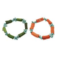 Natürliche Koralle Armband, mit Türkis, keine, 9-12mm, verkauft per ca. 7.5 ZollInch Strang