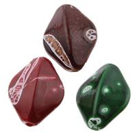 Filigrane Acrylperlen, Acryl, oval, Volltonfarbe, keine, 13x17x7mm, Bohrung:ca. 1mm, ca. 700PCs/Tasche, verkauft von Tasche