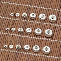 925 Sterling Silber Zwischenperlen, Trommel, verschiedene Größen vorhanden, verkauft von Menge